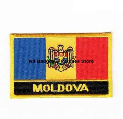 Moldova Rectangular Shape Flag patches embroidered flag patches national flag patches Free Shipping #Affiliate
