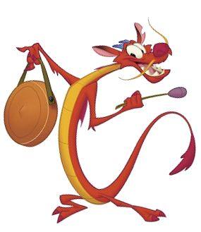 Mushu Chinese Red Dragon