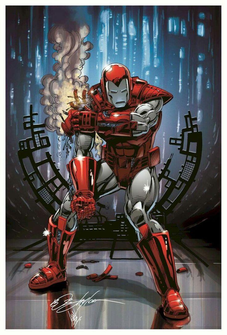 Iron Man Silver Centurion Armor •Bob Layton, Colors by Ian Sokoliwski