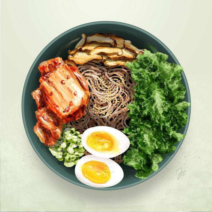 Food illustration — Soba そば