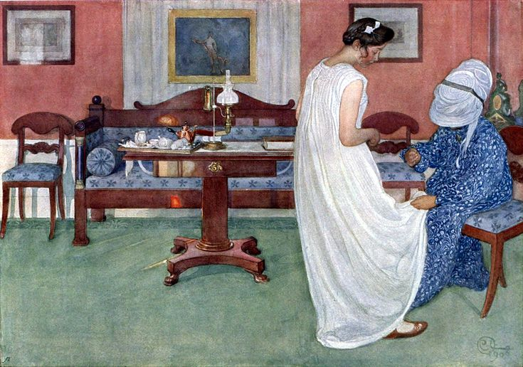 Carl Larsson (1859-1928): The Bridesmaid