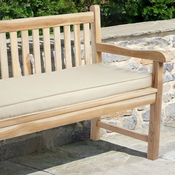"""Indoor/ Outdoor 60"""" Bench Cushion with Sunbrella Fabric Solid Traditional"""