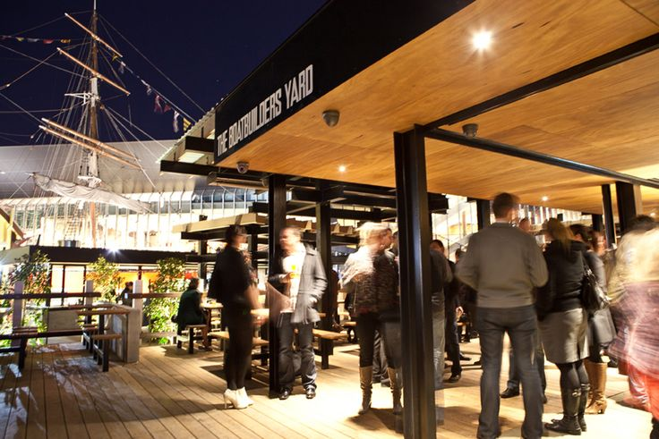 The Boatbuilders Yard - Melbourne - South Wharf - Bar exterior - Polly Woodside