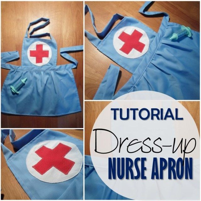 Sewing tutorial - Dress-up Nurse Apron.