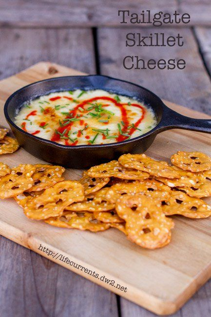 Skillet Cheese-A simple yet flavorful cheese dip made with provolone cheese and IPA beer! Eat Your Beer! 7 Fantastic National IPA Beer Day Recipes