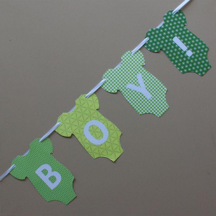 Baby Girlande Geburt basteln It's a girl It's a boy Anleitung DIY fertig 6