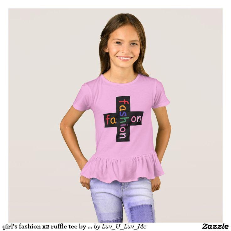 girl's fashion x2 ruffle tee by DAL