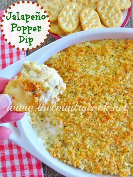Jalape?o Popper Dip This dip is outta this world good! Make it for Christmas parties. New Year's Eve parties or football gatherings! Super Bowl APPETizer
