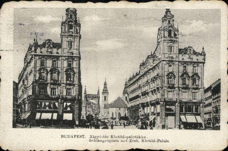 Budapest 1919 - Kigyó Square, Klotild Palaces