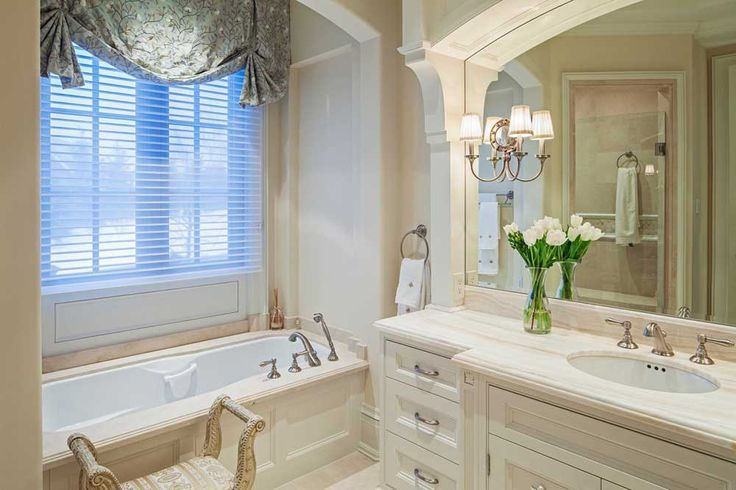 French Furniture Interior Design with Traditional Makow Architects Bathroom