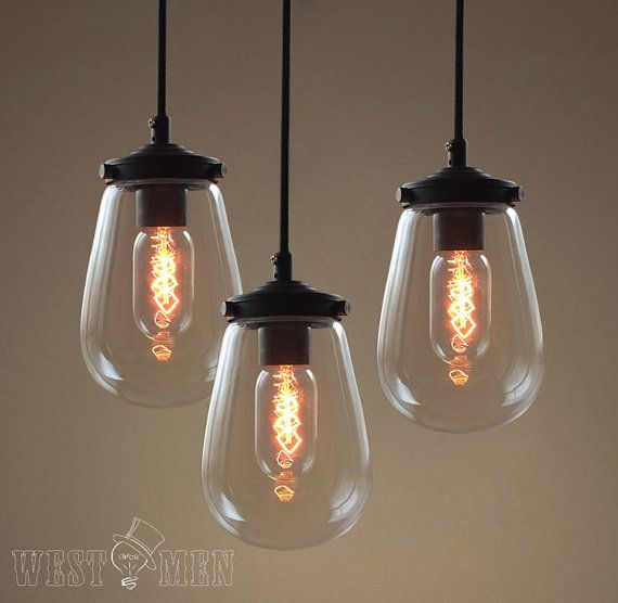 modern bubble glass hanging pendant light by AugustRushLights