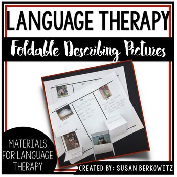 Here are some folding activities that are popular now, which can be used in classrooms or language intervention settings. There are actual photographs used with describing templates with 2 different sets of prompts, and a comparison Venn-type diagram to compare/contrast some of the animals pictured with some similarities.