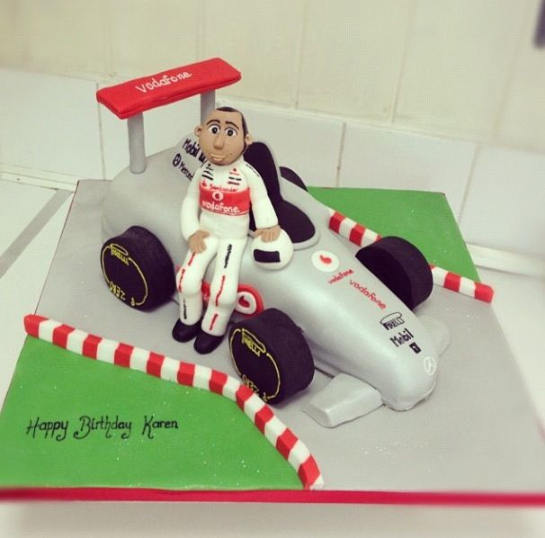 Lewis Hamilton Racing Car Cake
