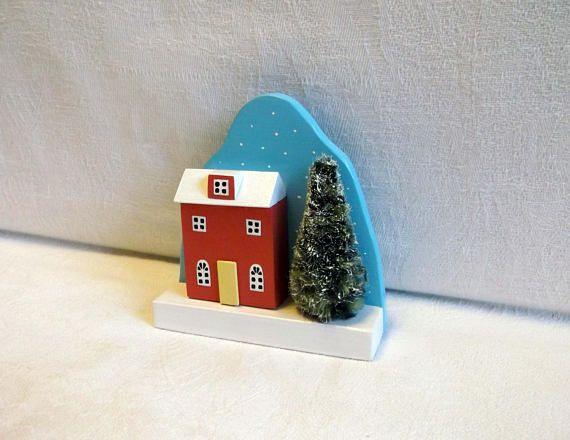 Christmas/Wood hous/home decoration/House/Miniature wood