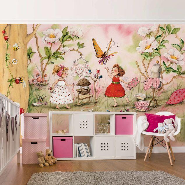 Vliestapete Erdbeerinchen Erdbeerfee Schneiderstube Breit Wandfarbe Kinderzimmer Fototapete Kinderzimmer Kinder Tapete