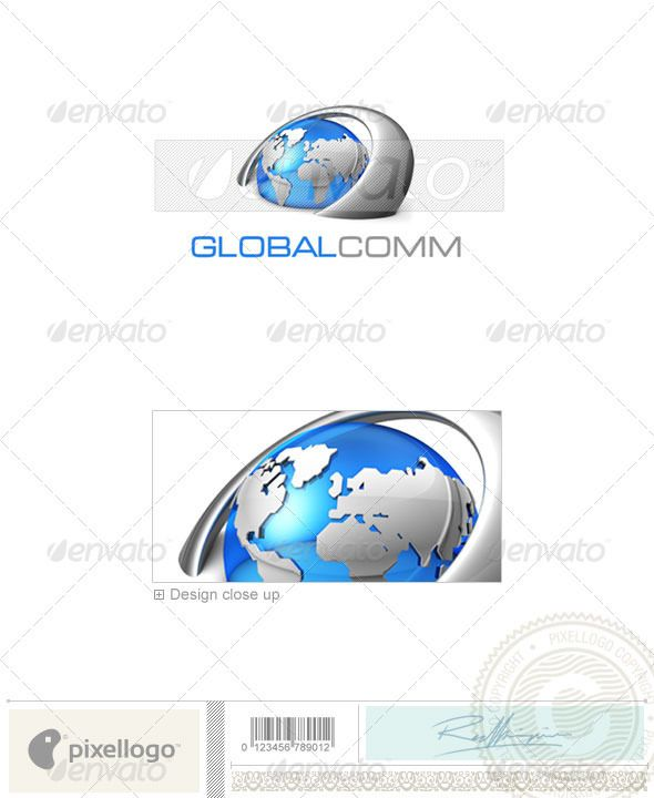 Communications Logo - 3D-347 — Photoshop PSD #communications #global comm • Available here → https://graphicriver.net/item/communications-logo-3d347/497530?ref=pxcr