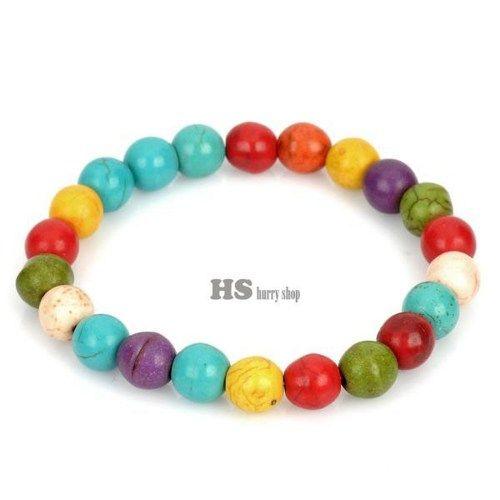 Stylish Turquoise StyleBeads Stretchy Bracelet - Colorful | 5STAR - Jewelry on ArtFire