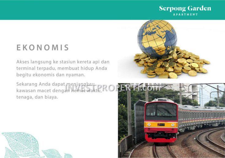 Akses langsung kereta api Cisauk dari Serpong Garden