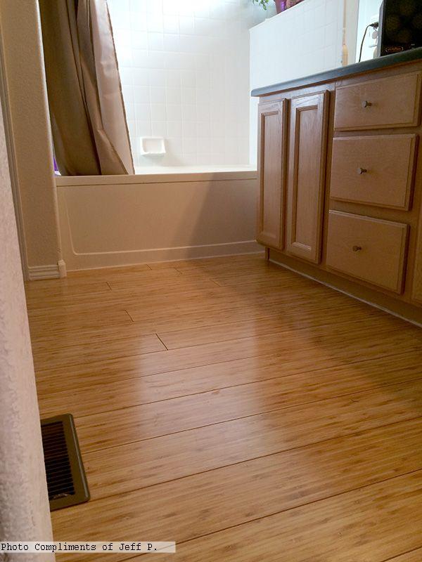Pergo eastern bamboo laminate flooring in the bathroom - Bamboo flooring in kitchen and bathroom ...