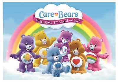 """Care Bears Welcome to Care A Lot Iron On Transfer 5 """"x7.25"""" for LIGHT Fabric"""