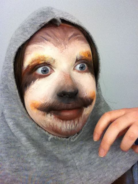 This Girl's Amazing Sloth Makeup Is Literally The Stuff Of Nightmares