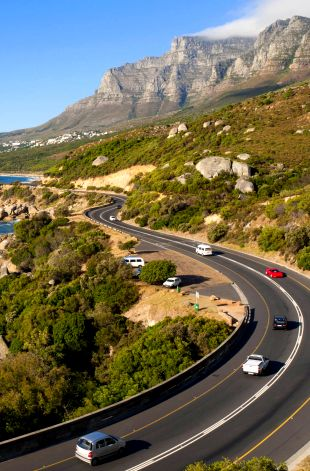 Atlantic seaboard between Houtbay and Campsbay, Cape Town, South Africa