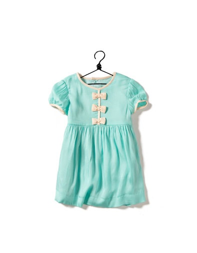 Zara turquoise baby girl dress