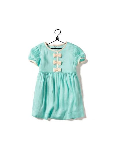 Zara turquoise baby girl dress