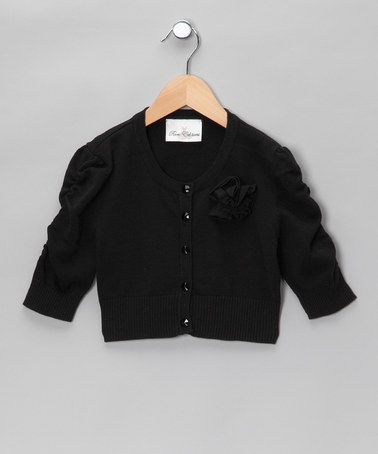 Take a look at this Black Caterpillar Cardigan - Girls by Rare Editions on #zulily today!