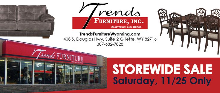We proudly support our business customers! Here is a special offer brought to you by Trends Furniture Inc., in Gillette, WY. Trend's Furniture will have a Spare Change | Change Lives Coin Drive! Proceeds from this will go to the Wyoming Food Bank of the Rockies. Member FDIC/Equal Housing Lender