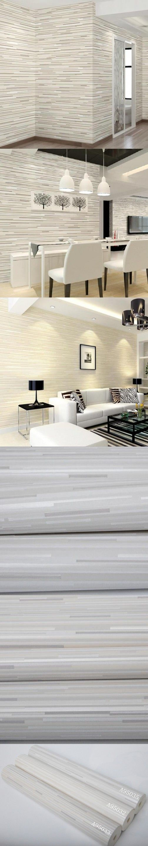 High quality Home Decor Modern Striped Wallpaper For Walls 3 D Bedroom Embossed Wall paper Rolls Beige papel de parede W432 $36
