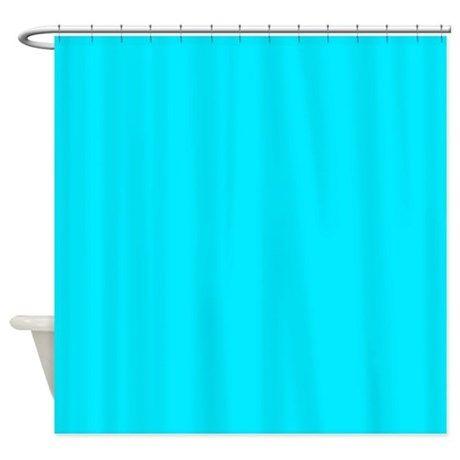 Bright Aqua Blue Shower Curtain
