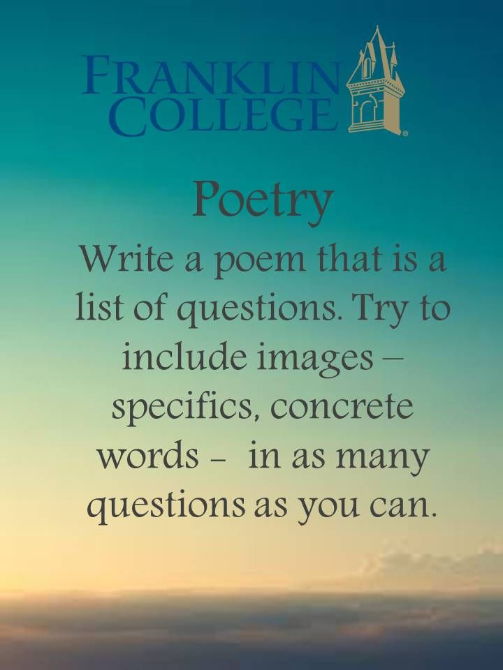 How to Write a Conceit Poem
