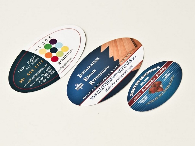 Oval business card colourmoves Images