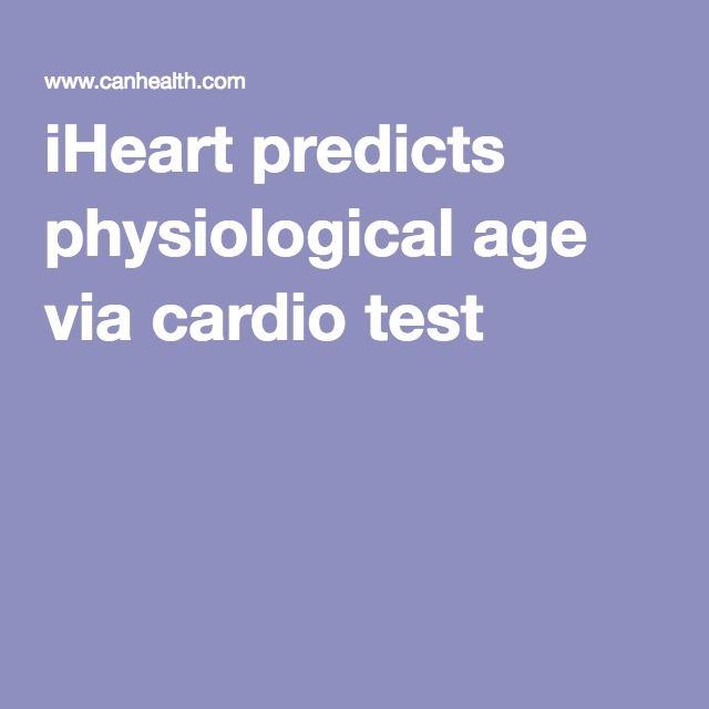iHeart predicts physiological age via cardio test