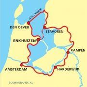 Een rondje IJsselmeer is een verkenningstocht langs de oude Zuiderzee, die door de eeuwen heen zo nadrukkelijk zijn stempel heeft gedrukt op de cultuur en economie van omringende plaatsjes. Bezoek bekende vissersdorpen en stadjes zoals de hanzesteden Kampen en Elburg.