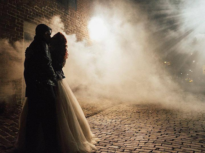 """Life should not be a journey to the grave with the intention of arriving safely in a pretty and well preserved body but rather to skid in broadside in a cloud of smoke thoroughly used up totally worn out and loudly proclaiming """"Wow! What a Ride!  Hunter S. Thompson    #royaannmillerphotography #destinationphotographer #destinationweddingphotographer #savannah #filmnoir #darkalleys #bighearts #wedding #weddings #weddingday #weddingdress #weddingnight #fineartweddingphotography #romanticaf…"""