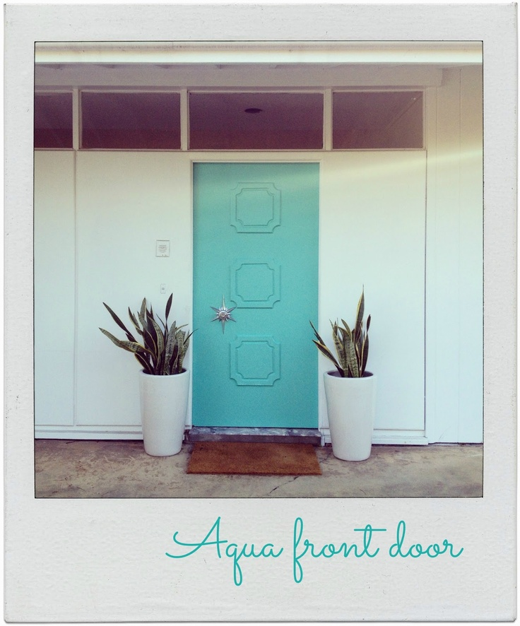 To Birds of a Feather: Aqua Front Door