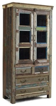 Shabby Chic Hutch Cabinet eclectic buffets and sideboards