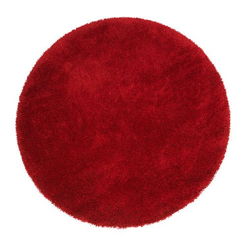 IKEA ÅDUM Rug, High Pile Bright Red 130 Cm The Dense, Thick Pile Dampens  Sound And Provides A Soft Surface To Walk On.