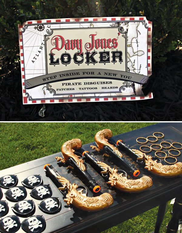 Pirates of the Caribbean Inspired Birthday Party: Davy's Jones Locker Pirate Gears(4 TROY)