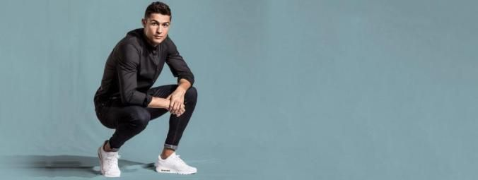 Cristiano Ronaldo poses in CR7 Limitless how to shopp his shirt and his jeans?