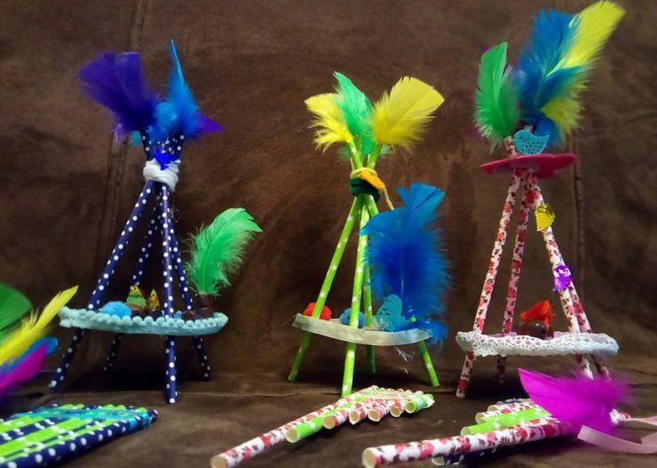 Craft-Diy-Kids-Mini woven teepees