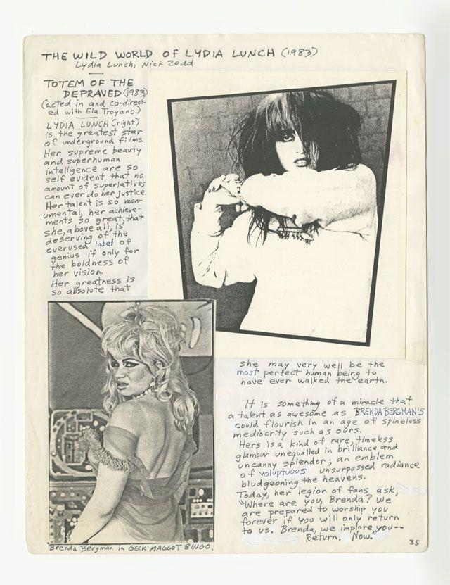 The Underground Film Bulletin, circa 1985, courtesy of Nick Zedd andFalesLibrary, NYU