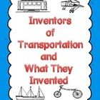 This is a great resource about inventors of different forms of transportation. A great way to integrate your social studies with your reading.