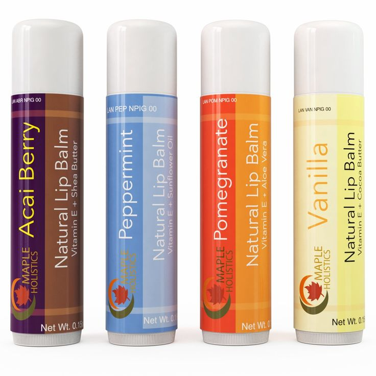 Natural Therapeutic Lip Balm for Dry and Chapped Lips - Four Flavor Multi-pack for Women and Men - Moisturizing Beeswax Treatment with Aloe Vera, Shea Butter and Vitamin E - USA Made By Maple Holistics ^^ You can get more details here : Skin care