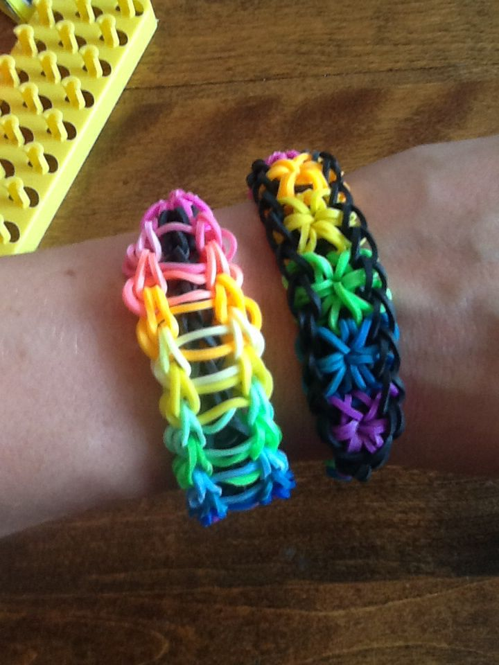 Experimenting with rainbow loom!