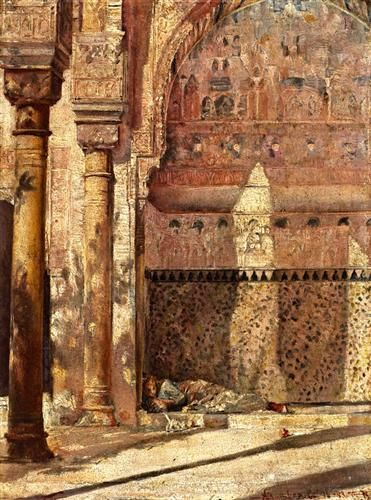 1883 - Basking - A Corner in the Alhambra  - Tom Roberts
