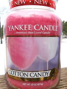 "Yankee Candle 22 OZ Large ""Cotton Candy"" Carnival NEW 