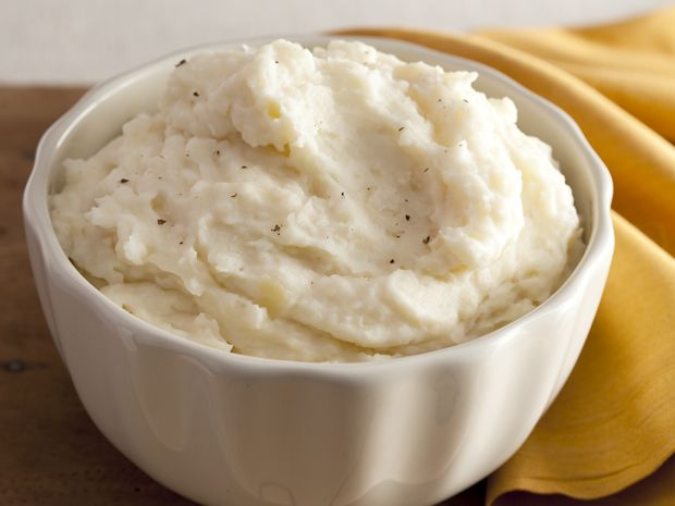 Creamy Garlic Mashed Potatoes from FoodNetwork.com-    Who else but Alton? His recipes I've tried have always gotten 5 stars from me. He is always spot on. The only thing missing in this recipe for me is some chives. I adore them in my mashed potatoes.-SV